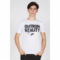 [BERRYBENKA] MEN AS RUN P OUTRUN REALITY TEE WHITEBLACKREFLECTIVE SILVER