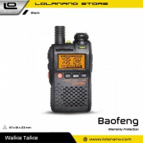 Taffware Walkie Talkie Dual Band 99CH 2W UHF+VHF - BF-UV3R - Black