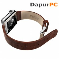Leather Band for Apple Watch 42mm [Hoco Bamboo Texture Brown]