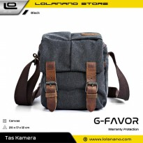 G-FAVOR Tas Selempang Kamera DSLR for Canon Nikon - YD3229 - Black
