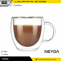 NEYDA Cangkir Double Wall Anti Panas Insulated Cup 200ml - PLY1704 - Transparent