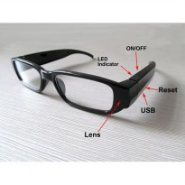 Kacamata Pengintai | Eyewear Glasses Cam 720p HD Eyeglasses Spy Camera