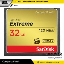 SanDisk Extreme Compact Flash Card VGP-20 (120MB/s) 32GB - SDCFXSB-032G