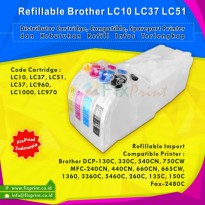 Cartridge Refillable Brother DCP-130C DCP-330C DCP-540CN MFC-240CN