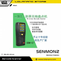 SENMONZ Mini Data Collector Scanning Stock Wireless Barcode Reader PDA - OBM-E7 - Black
