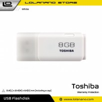 Toshiba Hayabusa USB Flash Drive 8GB - THN-U202W0080 (BULK PACKING) - White