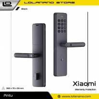 Xiaomi Mijia Smart Door Lock Keyless Bluetooth Fingerprint Kunci Pintu Rumah - ZNMS01XMYP - Black