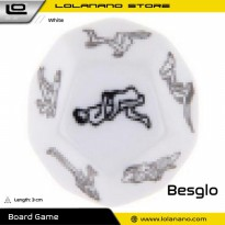 Besglo Dadu Polyhedral D12 Motif Kamasutra - S0004 - White