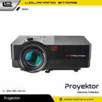 Proyektor Mini Portable 3D 480P 1800 Lumens - VS67 - Black