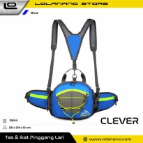 CLEVER BEES Tas Pinggang Sporty Waistbag Model Bladder - L29 - Blue