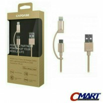 Vivan Kabel Data Charger iPhone 5 5S 6 6S + micro USB 1.2m Cable TC120