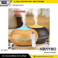 KBAYBO Air Humidifier Aromatherapy Diffuser 7 Color 300ml with Remote Control - K-H264 - Yellowish B