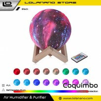 Coquimbo Lampu Tidur 3D Printed Moon Night Light Table Rechargeable Lamp 16 Color 15CM - 3DPSL