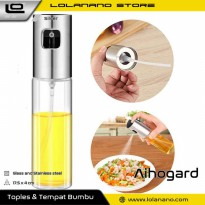 Aihogard Botol Minyak Spray Olive Oil BBQ Chinese Food 100ml - HEA-1075 - Silver