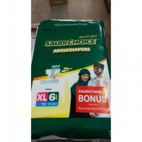 Popok Dewasa SAUDI CHOICE size XL 6 pcs ( Adult Diapers )