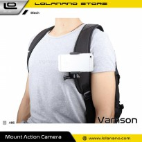 Vamson Clip Clamp Mount 360 Rotary + Smartphone Holder for GoPro / Xiaomi Yi - VP512 - Black