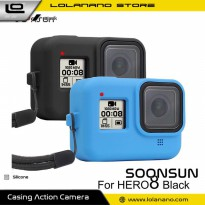 SOONSUN Silicone Protective Case Bumper for GoPro Hero 8 - SON-801 - Black