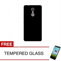 Case for Lenovo Vibe K6 Note - Slim Black Matte Hardcase + Gratis Tempered Glass