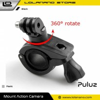 PULUZ Bike Handlebar Mount Holder 360 Degree Rotation for GoPro - Black