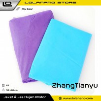 ZhangTianyu Jas Hujan Portable Universal Poncho Disposable Raincoat with Button - 1532 - Mix Color