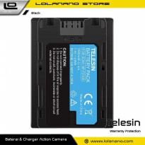 Telesin Baterai Lithium Replacement 1900mAh for Sony NP-FZ100 - SN-BTR-FZ100 - Black