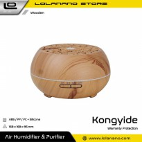 Kongyide Air Humidifier Aromatherapy Diffuser Wood Design 550ml - J-109 - Wooden