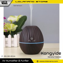 Kongyide Air Humidifier Aromatherapy Diffuser Wood Design 130ml - AJ-510 - Dark Brown