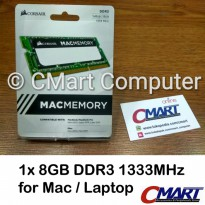 Corsair 4GB DDR3 1333 MHz SODIMM Mac Memory Laptop - CMSA4GX3M1A1333C9