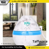 Taffware Aromatherapy Air Humidifier Night Light Marble 300ml - Humi H296 - White