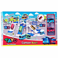 Tayo The Little Bus Parking Lot ZY-001 - Mainan Bus Tayo - Ages 3+