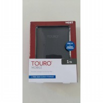 Hitachi Touro Black Hardisk Eksternal [1 TB] + 3GB Cloud Storage