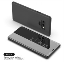 Samsung Galaxy Note 9 Flip case Synthetic Leather Case Clear View Black