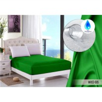 sprei jaxine waterproof polos green fresh 180x200 ( 2 set BG)