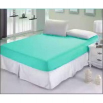 sprei jaxine waterproof polos green tosca 180x200 ( 2 set BG)