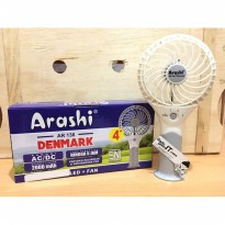 Kipas Angin Portable Fan ARASHI AR 138 DENMARK (RECHARGEABLE)