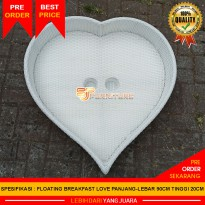 Floating Breakfast Synthetic Rattan Floating Tray For Poll [Baki Apung Rotan Sintetis] Love