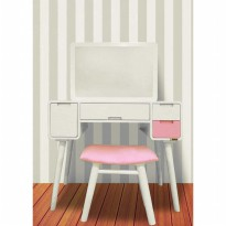 Doves Furniture Meja Rias MR-032 - Laci Pink