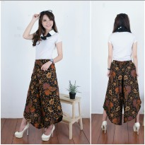 Cj collection Celana kulot batik panjang wanita jumbo long pant Narnia - ungu