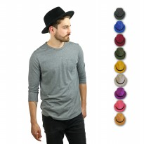 D & D Hat Collection Topi Fedora Aneka Warna Dewasa