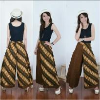Cj collection Celana kulot batik panjang wanita jumbo long pant Aviana - hijau
