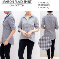 KEMEJA BRANDED PLAID/ STRIPE OFFICE SHIRTS - BAHAN 100% POLYESTER - LEMBUT-ELEGEN