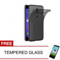 Case for Huawei Y3 2017 - Abu-abu + Gratis Tempered Glass - Ultra Thin Soft Case