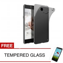 Case for Huawei Y5 2017 - Abu-abu + Gratis Tempered Glass - Ultra Thin Soft Case