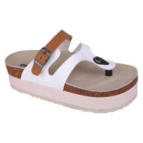 Sandal casual wanita/sandal wedges/sandal formal wanitaCatenzo AK 022 Putih