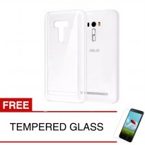 Case for Asus ZenFone 4 Selfie / ZD553KL - Clear + Gratis Tempered Glass - Ultra Thin Soft Case