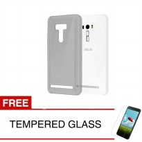 Case for Asus ZenFone 4 Selfie / ZD553KL - Abu-abu + Gratis Tempered Glass - Ultra Thin Soft Case