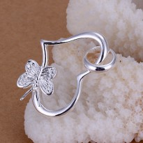 925 Sterling Silver Lovely Butterfly Pendant Necklace