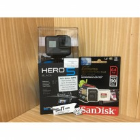 Paket Camera GoPro Hero 5 Black + MicroSD Sandisk EXTREME CL10 64GB