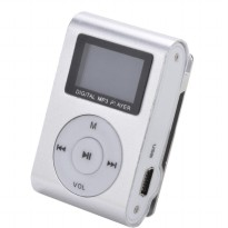 Pod MP3 Player TF Card dengan Klip & LCD - Silver