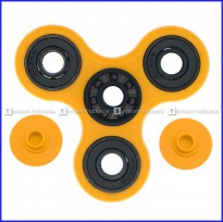 Fidget Spinner Keramik / Ceramic Ball Bearing Tri-Spinner Toy - Kuning